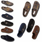 Mens Luxury Check Print Classic Novelty Mule Mules Lion Motif Slippers Shoes