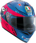 AGV 2017 Adult K3SV Guy Pink/Blue Motorcycle Helmet SM-2XL