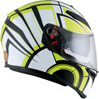 AGV 2017 Adult K3SV White/Lime Motorcycle Helmet SM-2XL