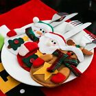 Christmas Knife Forks Cutlery Bag Xmas Tableware Holder Pocket Mat Dinner Decor
