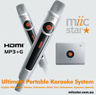 KARAOKE MIIC STAR - CHOOSE YOUR MUSIC, COMPACT UNIT & DOWNLOAD COMPATIBLE