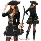 CA80 Leg Avenue High Seas Pirate Captain Womens Fancy Dress Up Halloween Costume