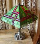 Large Stained Glass Tiffany Table Lamp - 51cm High - 36cm Shade Diameter<br/>Reproduction Lamps - 130933