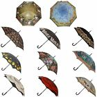 Mens Ladies Stunning Designs & Patterned Walking Stick Style Brolly Umbrella