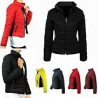 Ladies Smart Quality Puffer Jacket Quilted Padded Warm Thick Bomber Womens Coat