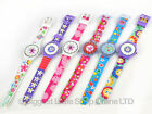 Chidrens GIRLS Quartz Fun WATCH Pretty Flowers 6 Designs Silicone Strap Fashion