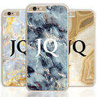 MONOGRAM PINK MARBLE BLACK INITIALS PHONE CASE COVER FOR IPHONE/SAMSUNG COVER