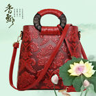 Womens large tote handbag messenger bag business OL Chinese style retro printing