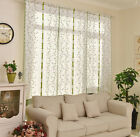 Valances Floral Tulle Voile Window House Curtain Drape Divider Panel Scarf Sheer