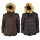 Boys Children US FREE STAR Padded Waterproof Winter Coat School Fur Parka Jacket