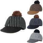 Stripe Warm Baseball Hat Felt Cap Unisex  Kids Autumn Woolen Ball Cute AB