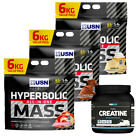 USN Hyperbolic Mass 6Kg / 6000g - Weight Gainer + FREE PRO ELITE CREATINE 250G