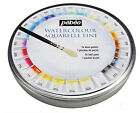 Pebeo Fine Watercolors Round Metal Box of 12/24 Half Pans Pocket Set with Brush