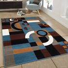 AllStar Rugs Hand-Woven Blue/Brown Area Rug