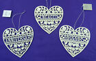 Fretwork Sentiments Hearts Decoration Mr & Mrs, Engaged, Anniversary