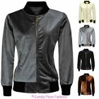 WOMENS LADIES MA1 SOFT VELVET LIGHTWEIGHT BOMBER SUMMER RETRO CLASSIC JACKET TOP
