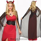 K237 Ladies Vampire Devil Princess Countess Halloween Fancy Dress Costume Party