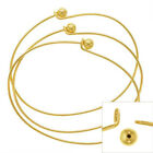 Gold Plated Wire Beading Bracelet W/ Ball-Add A Bead  (3)