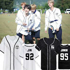 Kpop BTS Wings Jung Kook T-shirt Baseball Jersey Button Down Tshirt Bangtan Boys