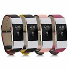Classic Premium Leather Replacement Wrist Band Strap Bracelet For Fitbit Charge2