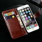New Quality Genuine Leather Flip Wallet Card Case Cover for iPhone SE 6 6S Plus