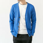 Men Casual Knitted V-Neck Sweater Coats Slim Cardigans Pullover Jackets Knitwear