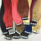 """16-24""""20PCS PU Seamless Skin Tape In Weft Remy Human Hair Extensions Straight"""