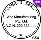 CS01 Custom Business The Common Seal of Rubber Flash Stamp Self Inking Refillabl
