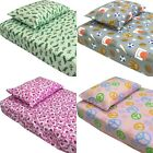 nEw TODDLER THEMED BED SHEETS SET - Cute Kids Room Bedding Sheets Pillowcase