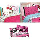 nEw HELLO KITTY BED SHEETS SET -  Cute Sanrio Peace Bedding