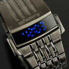 INFANTRY Mens LED Digital Wrist Watch Date Day Sport Army Stainless Steel Pilot