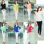 Fashion Women Lady Chiffon Blouse Tops Long Sleeve Casual Career Shirt Loose New