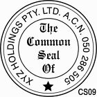 CS09 Custom Business The Common Seal of Rubber Flash Stamp Self Inking Refillabl