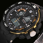 Fashion LED Large Face Men's Alarm Date 3ATM Analog Digital Sport Wrist Watch