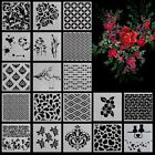 Flower Star Heart Pattern Layering Scrapbooking Painting Stencils Template Craft