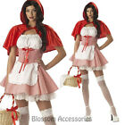 K280 Ladies Red Riding Hood Fairy Tale Book Week Fancy Dress Halloween Costume