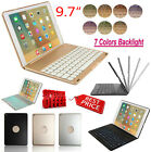LED Backlit Bluetooth Keyboard Case Smart Cover For iPad Pro / Air 2 9.7inch