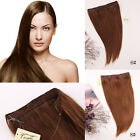 Halo Flip On Invisible 100% Human Hair Extensions Wire Headband 20inch 80g 100g