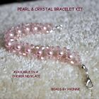 OPTION JEWELLERY KIT NECKLACE / BRACELET 6MM GLASS PEARLS & 4MM CRYSTAL BEADS
