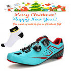 New Men Cycling Carbon Fiber Soles Shoes Breathable Road Bicycle Bike Shoes 021B