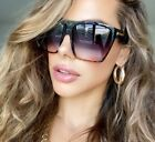 "Внешний вид - Flat Top Huge Big Oversized XXL Square Women Sunglasses ""Lauren"" Mirror SHADZ"
