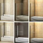 Pivot/ Hinge/ Folding Bath Screen Shower Screen Door Panel & Seal Tempered Glass