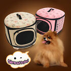 Pet Bag Dog Carrier Outdoor Foldable Tote House Gridding Ventilate Carrier Bags