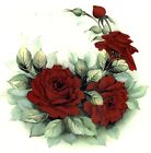 Red Crimson Rose Crescent Flower Select-A-Size Waterslide Ceramic Decals Xx  image