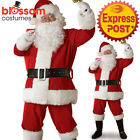 CA130 Regal Deluxe Plush Santa Suit Christmas Mens Xmas Fancy Dress Costume Hat