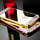 Luxury Mirror Case Bling Crystal Hard Back Protective Cover For iPhone 7/7 Plus