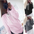 Women Long Sleeve Hoodie Sweatshirt Sweater Casual Jumper Coat Pullover Solid