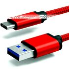 ✔ Nylon Braided Rope USB-C Type C Data Sync Charger Charging Cable Cord - LOT