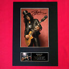 SLASH Mounted Signed Photo Reproduction Autograph Print A4 95