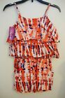 EPIC THREADS Girls' Red Blue Ruffle Top and Short Romper S 7/8 M 10/12 NWT #562